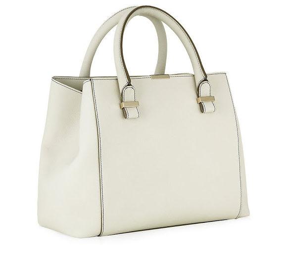 Victoria Beckham white Quincy bag