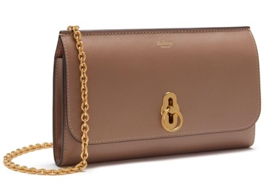 Mulberry rose pink 'Amberley' Clutch