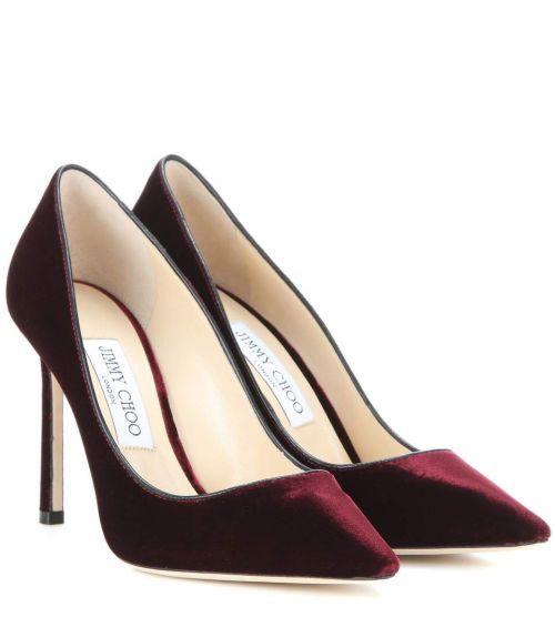 Jimmy Choo 'Romy' 100 velvet heels