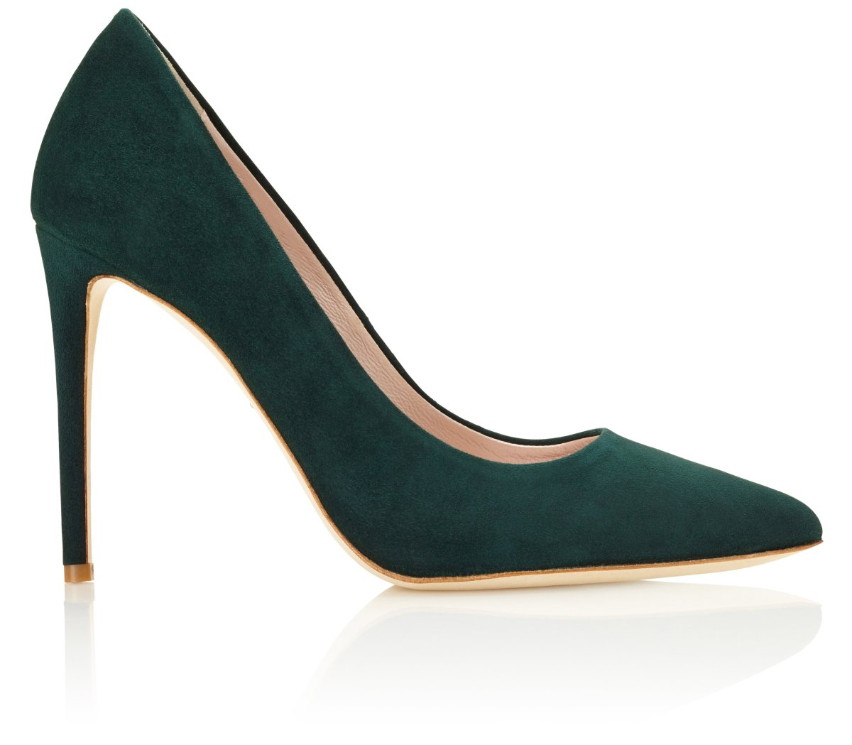 Emmy 'Rebecca' forest green pointed heel