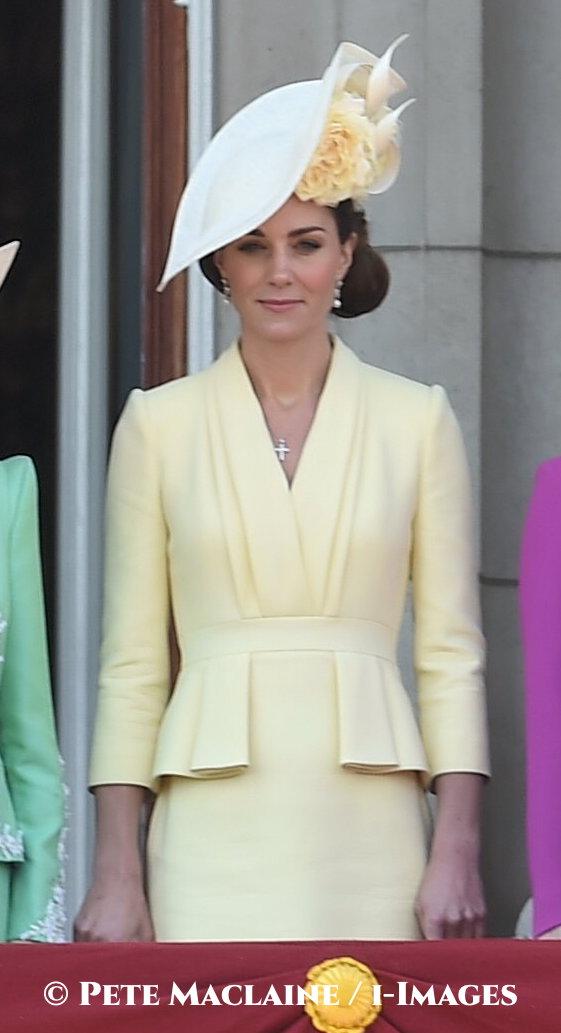 McQueen yellow pleated peplum dress