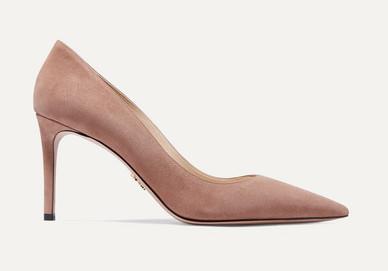 Prada taupe suede 85mm heel