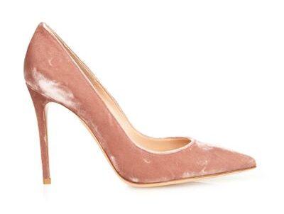 Gianvito Rossi 105 pink velvet heels