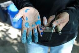 Ms. Blue Hands.