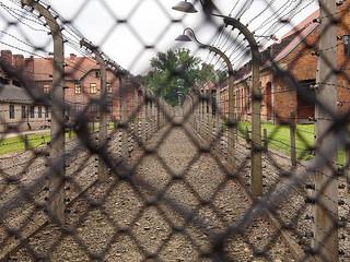 Fenced blocks at Auschwitz I (Oświęcim, Poland 2014)