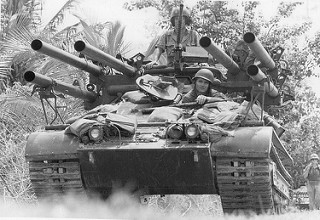 M50 Ontos Tank and 2 Marines