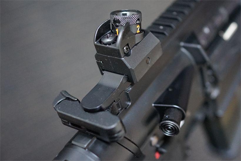 HK417のドラム式リアサイト