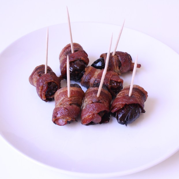 Gluten Free Sugar Free dessert:Bacon Wrapped Dates