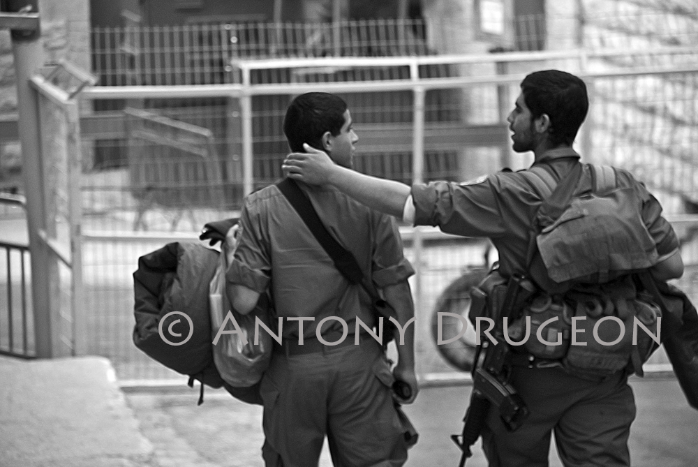 Les soldats. Hébron, Cisjordanie.