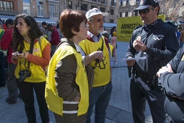 La mairie de Murcie a envoyé la police municipale pour notifier l'interdiction de la manifestation.