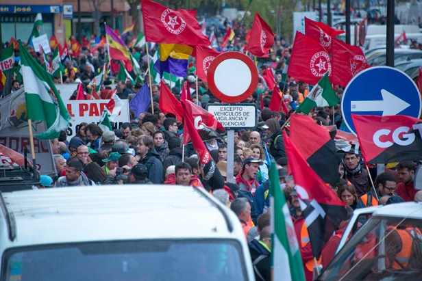 Avaient notamment appelé à manifester la CGT, la CNT ou encore le syndicat SAT.