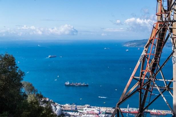Au sommet de Upper rock, à Gibraltar.