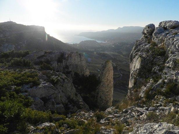 Cassis, vu depuis la Couronne de Charlemagne