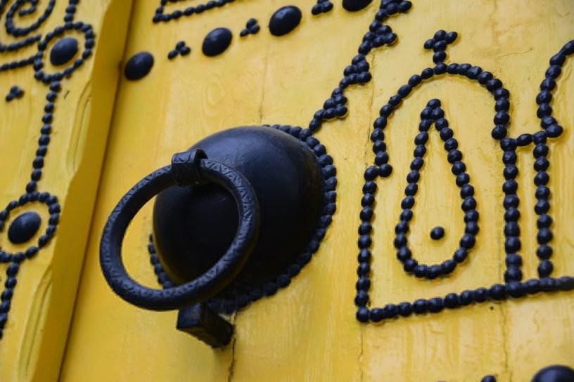 Détail d'une porte traditionnelle de la médina de Tunis