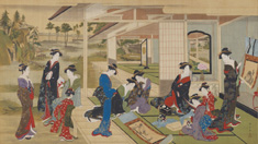 生誕290年記念勝川春章と肉筆美人画 -〈みやび〉の女性像