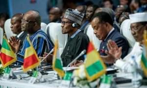 buhari elected ecowas president