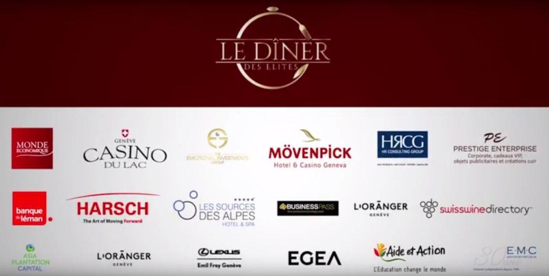 remerciements Le Diner des élites - Suisse Romande - Hotel Wilson