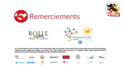 Remerciements Ville de Rolle - PPG industries - Colorful communities