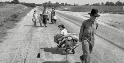 refugiés économique - crise de 1929 - krach de 29 - effondrement economique