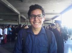 Albern Mendoza, intercambista con destino a Perú