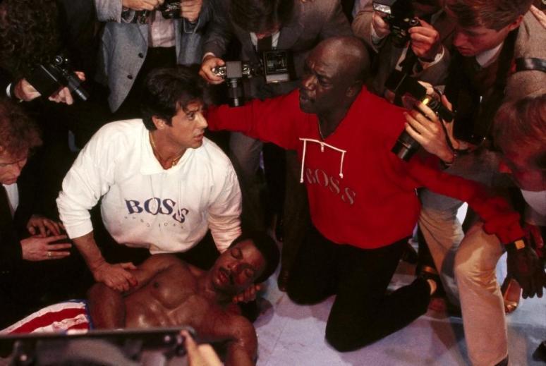 ROCKY IV, Sylvester Stallone, Carl Weathers, Tony Burton, 1985, (c) United Artists