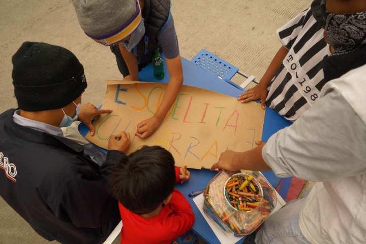 Las niñas y los niños en El Chaparral. Foto: Casa de Luz