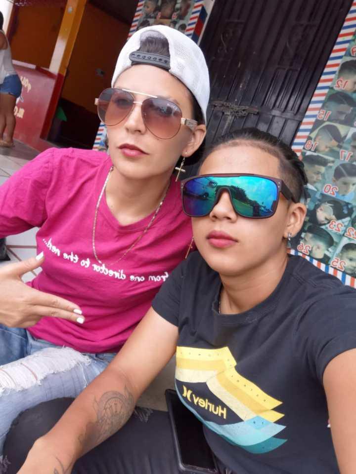 Alejandra y Maricela cuando todavía vivían en una comunidad de Francisco Morazán en el centro de Honduras. Foto: Cattrachas