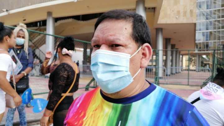 El activista de Asociación Arcoíris, Donny Reyes.