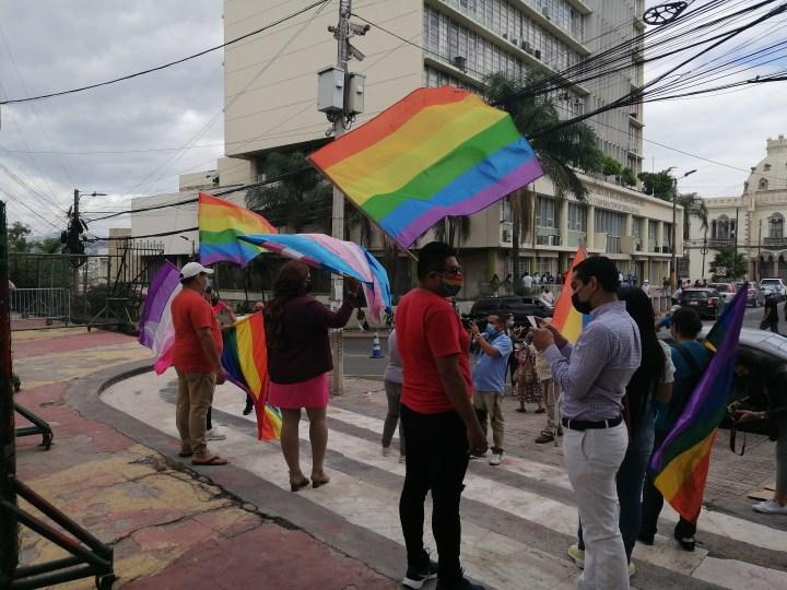 Las protestas en los bajos del Congreso Nacional de Honduras