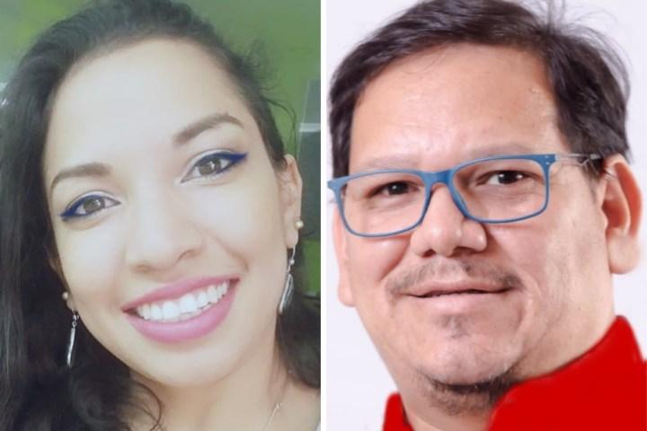 Lxs líderes LGBTIQ+ en Honduras, Ana Pérez y Donny Reyes.