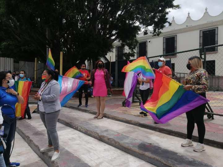 Las protestas en los bajos del Congreso Nacional de Honduras. Foto: Luis Vallecillo
