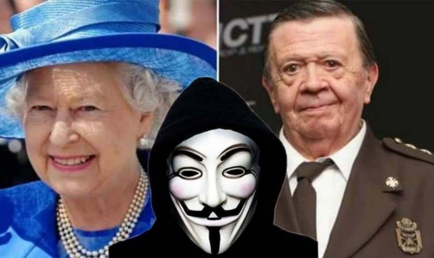 Anonymous revela que Chabelo y la Reina Isabel II son Adan y Eva