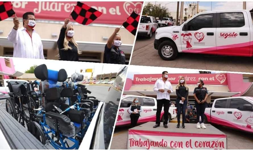 DIF dona sillas a personas con discapacidad – Armando Cabada da el Banderazo de arranque