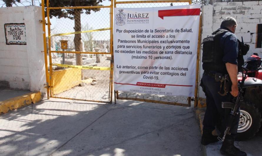 Cierran panteones municipales hasta nuevo aviso