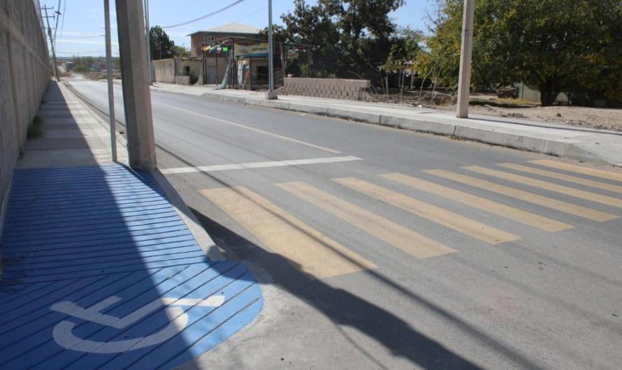 Pavimentación en dos calles de la Colonia Las Arcadas