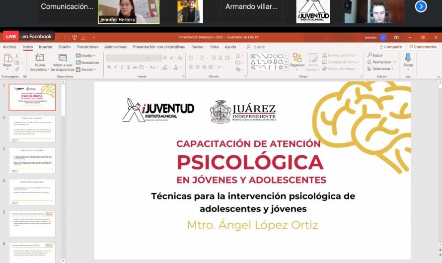 Inicia Programa de Capacitación de Atención Psicológica a Jóvenes y Adolescentes