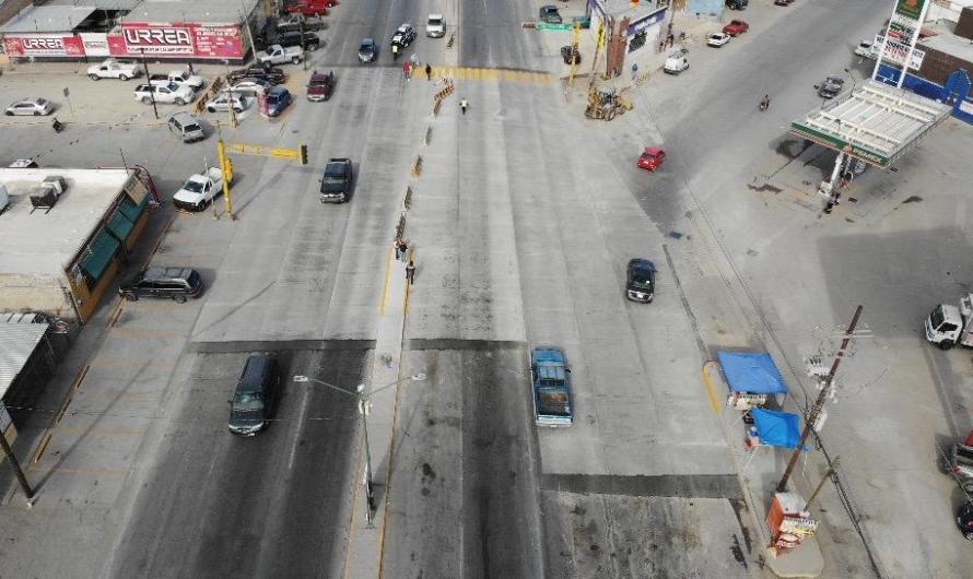 Concluyen obras de reconstrucción en crucero de Plutarco Elías Calles y Oscar Flores