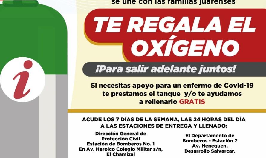Gobierno Municipal: Sigue activo programa de Oxígeno Gratis