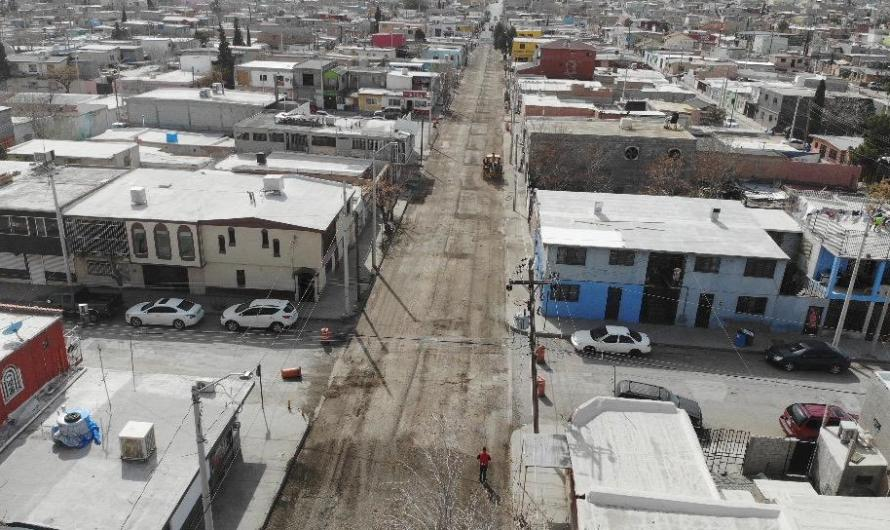 Sin Baches calle Antimonio …. ya comenzó la repavimentación
