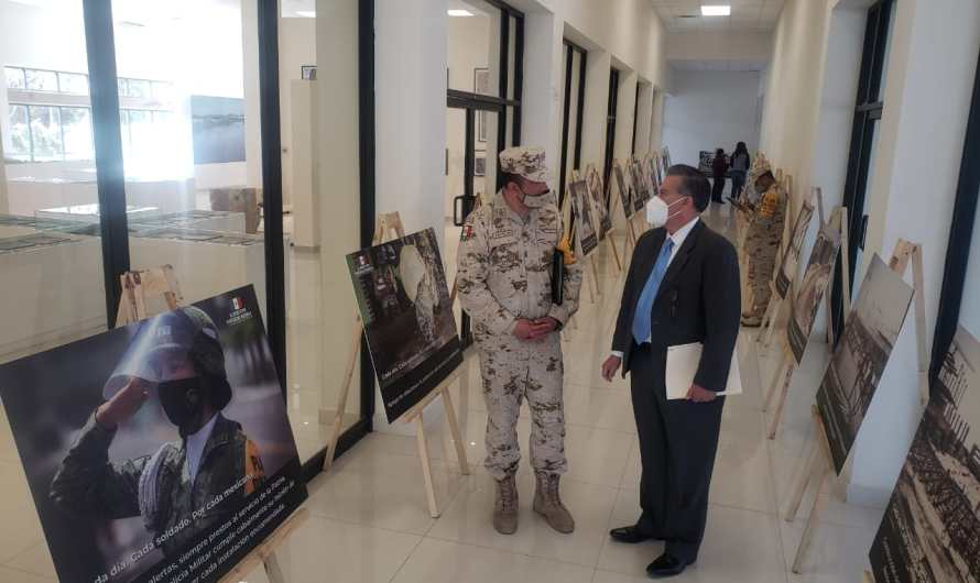 Exposición fotográfica inaugurada por Sedena e IPACULT, destaca labor social del Ejército