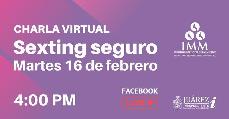Conferencia virtual 'Sexting seguro', hoy a las 4 de la tarde