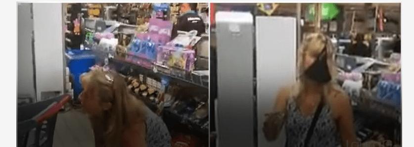 VIDEO: En Sudáfrica, le exigen cubrebocas y ella usa su tanga