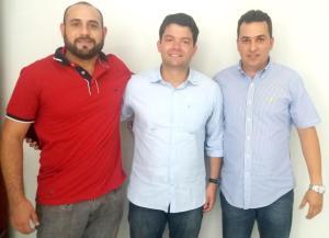 Ramon - Pres. do PDT de Curionópolis, deputado Estadual Miro Sanova - PDT e o pré candidato da sigla Regis do Ivo