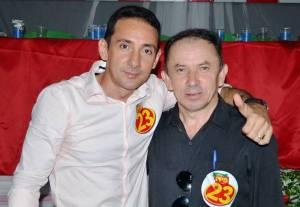 Valdeir com Edinaldo Aguiar, presidente do PPS de Curionópolis