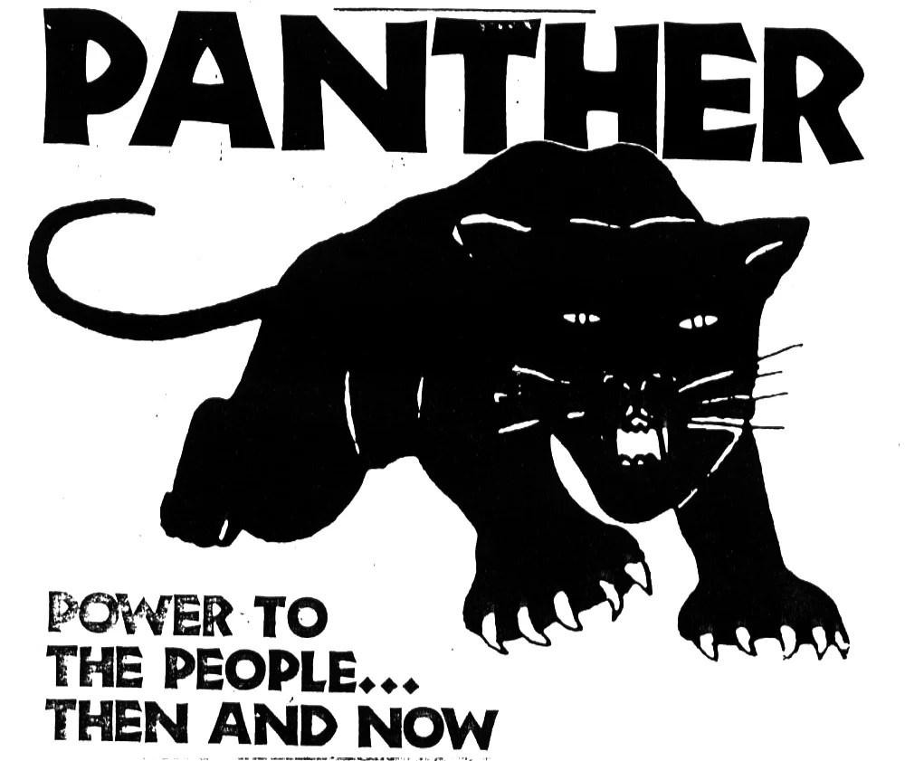 """Cartaz da época ilustra o lema do Partido dos Panteras Negras: """"Todo o poder ao povo"""" (Imagem: Emory Douglas)"""