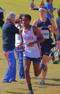 Tucker junior Yordanos Ephram clocked the best time for a DCSD boy competing at state with his 17:39.44 in the Class 6A race. (Photo by Mark Brock)