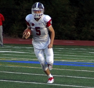Dunwoody's DAvis Ledoyen is the No. 6 All-Time passing leader in DeKalb with 5,147 yards. He is taking his talents to Elon. (Photo by Mark Brock)
