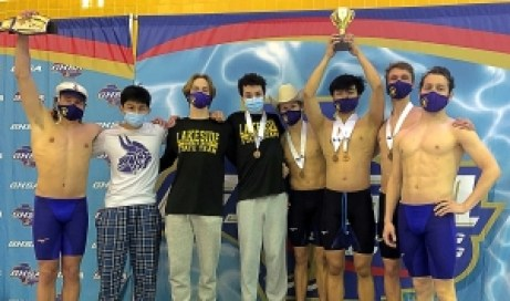 The Lakeside Vikings finished third in the Class 6A Boys State Swimming and Diving Championships.