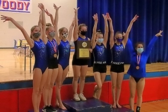 The DCSD County Champs qualified as a team for the 2021 GHSA State Gymnastics Meet.