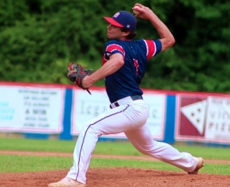 Dunwoody's Reese Rosen went the distance in a Game 1 victory over South Forsyth. South Forsyth bounced back to earn the split and force Game 3. (Photo by Mark Brock)